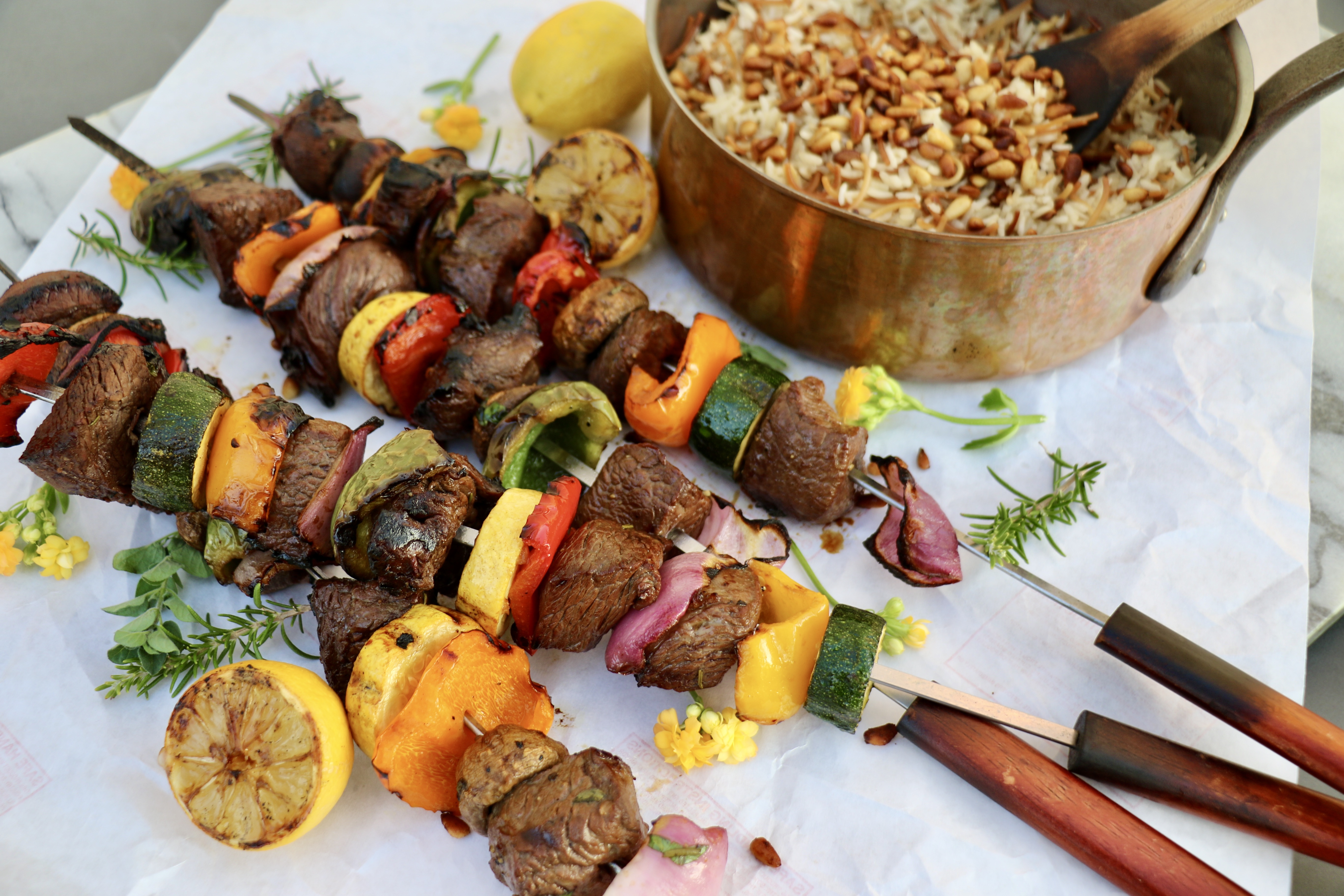Brooke Appetit: Beef Shish Kabobs with Lebanese Rice